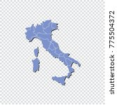 italy map isolated on... | Shutterstock .eps vector #775504372