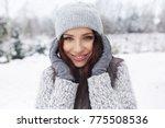 beautiful smiling young woman... | Shutterstock . vector #775508536