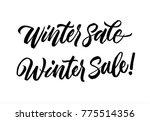 winter sale set calligraphy... | Shutterstock .eps vector #775514356