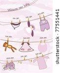 baby girl shower announcement... | Shutterstock .eps vector #77551441