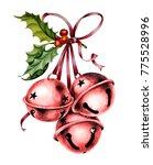 christmas watercolor... | Shutterstock . vector #775528996