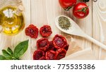 tomato fruits   dried tomatoes  ...   Shutterstock . vector #775535386
