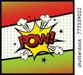 comic book arte vector. | Shutterstock .eps vector #775539022
