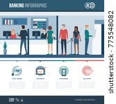 banking  financial services and ... | Shutterstock .eps vector #775548082