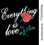 typography slogan with roses... | Shutterstock .eps vector #775549936