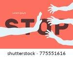 vector illustration  harassment ... | Shutterstock .eps vector #775551616