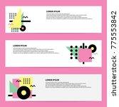 memphis banner vector | Shutterstock .eps vector #775553842