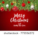 merry christmas and new year... | Shutterstock .eps vector #775556572