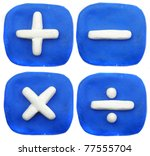 number plasticine - stock photo