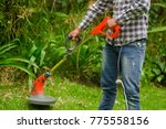 young worker wearing jeans and... | Shutterstock . vector #775558156