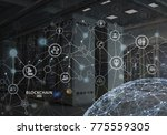 concept of blockchain.... | Shutterstock . vector #775559305