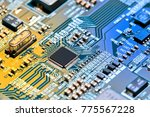 electronic circuit board close... | Shutterstock . vector #775567228