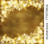 Small photo of Gold festive background. Abstract golden light, radiance