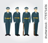 soldier and guard of honor...   Shutterstock .eps vector #775571656