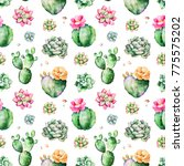 colorful seamless pattern with... | Shutterstock . vector #775575202