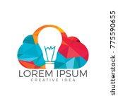 Bulb Cloud Logo Design. Idea...