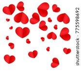 paper hearts origamy confetti... | Shutterstock .eps vector #775598692