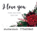 floral greeting valentine card... | Shutterstock .eps vector #775605865