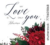 floral greeting valentine's day ... | Shutterstock .eps vector #775605868