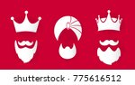 image with three crowns and... | Shutterstock .eps vector #775616512