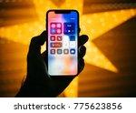 paris  france   nov 10  2017 ... | Shutterstock . vector #775623856