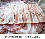 sliced japanese pork | Shutterstock . vector #775626562