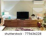 a modern large wooden cabinet... | Shutterstock . vector #775636228