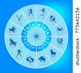 blue horoscope circle.circle... | Shutterstock .eps vector #775642156