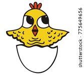 cute chicken. vector... | Shutterstock .eps vector #775649656