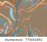 abstract art texture. colorful... | Shutterstock . vector #775651852