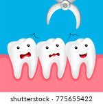 cute cartoon tooth dental... | Shutterstock .eps vector #775655422