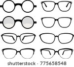 spectacle icon set symbol... | Shutterstock . vector #775658548
