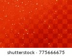 traditional red paper texture... | Shutterstock . vector #775666675