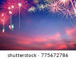 colorful fireworks on stunning...   Shutterstock . vector #775672786