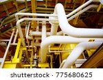 process pipe line at oil and... | Shutterstock . vector #775680625