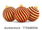 christmas toys three striped... | Shutterstock . vector #775688506