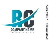initial letter rc overlapping... | Shutterstock .eps vector #775695892