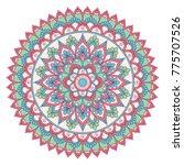 ethnic ornamental mandala.... | Shutterstock .eps vector #775707526
