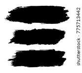 vector black paint  ink brush... | Shutterstock .eps vector #775713442