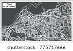 tripoli libya map in retro... | Shutterstock . vector #775717666