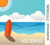 beach shore illustration... | Shutterstock .eps vector #775724686