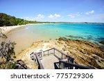 stairs at the pass  byron bay. | Shutterstock . vector #775729306