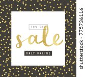 sale banner design with gold... | Shutterstock .eps vector #775736116