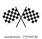 vector black and white crossed... | Shutterstock .eps vector #775749736