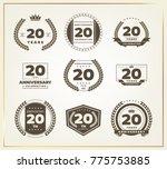 20 years anniversary logo set....   Shutterstock .eps vector #775753885