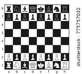 black and white chess board... | Shutterstock .eps vector #775757032
