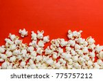 tasty salted popcorn isolated... | Shutterstock . vector #775757212