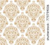 golden ornamental seamless...   Shutterstock .eps vector #775759036