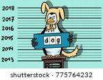 2018 new year  funny penguin... | Shutterstock .eps vector #775764232