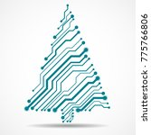 abstract technology christmas... | Shutterstock .eps vector #775766806